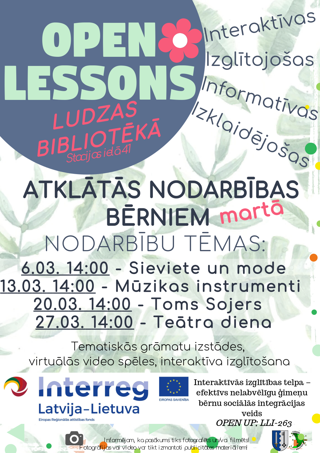 Open lessons March