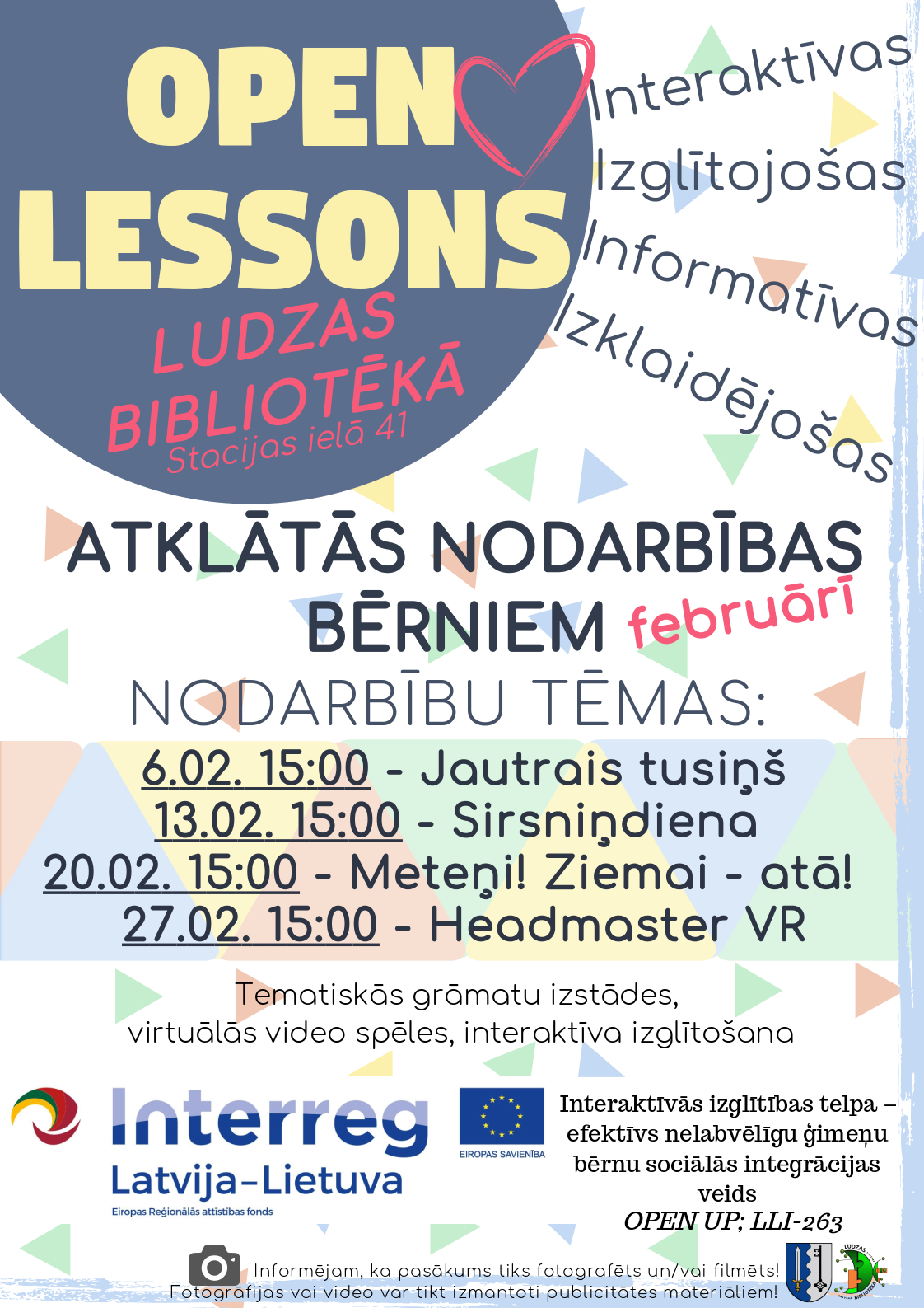 Open lessons february