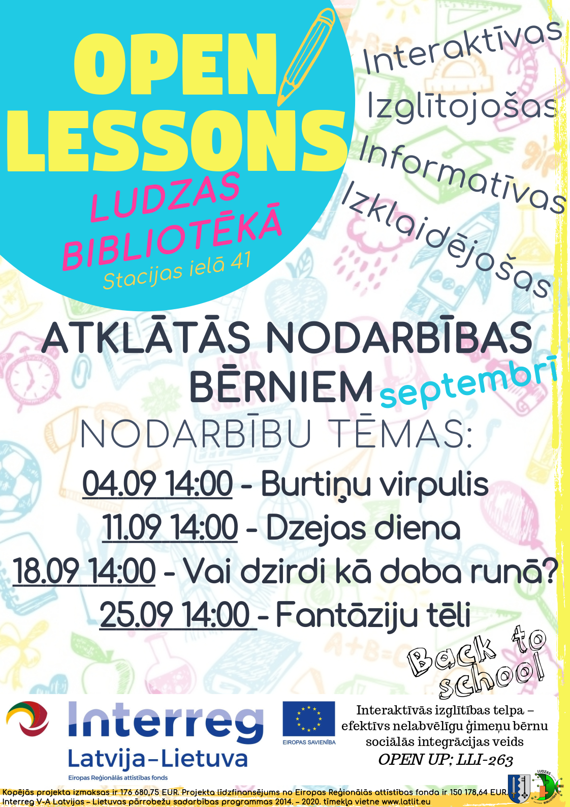 Open lesson September