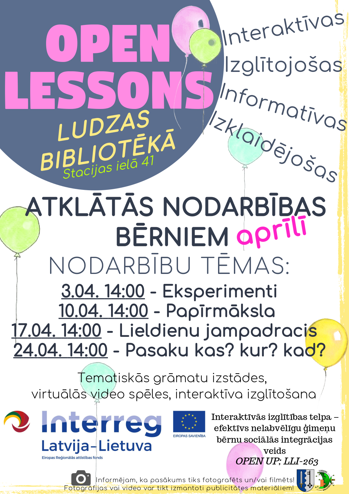Open lessons April
