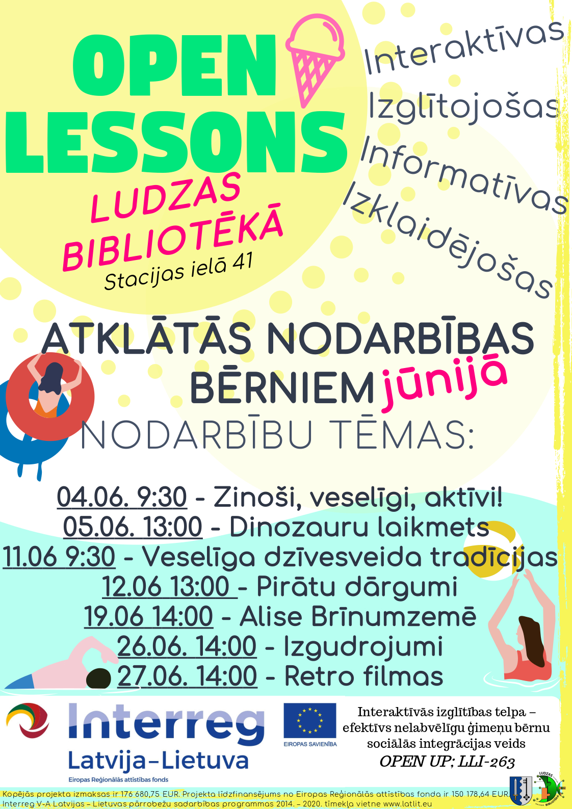 Open lessons June