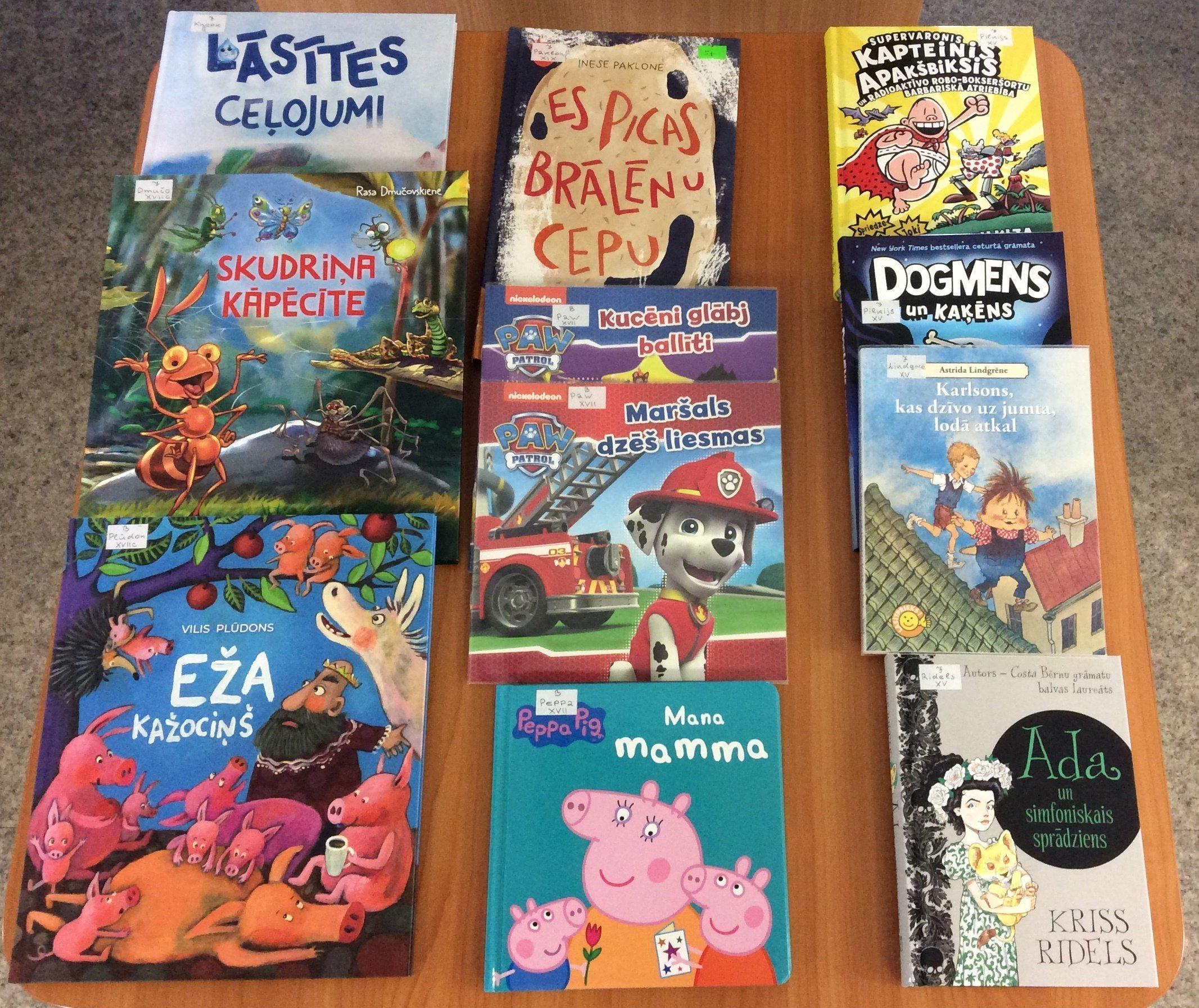 Jaunās grāmatas bērnu nodaļā 2019.g. augustā