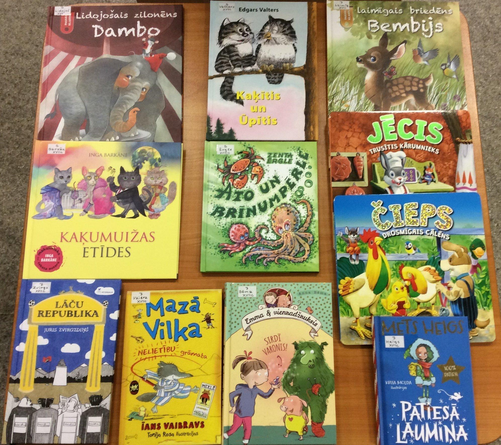Jaunās grāmatas bērnu nodaļā 2020.gada februārī