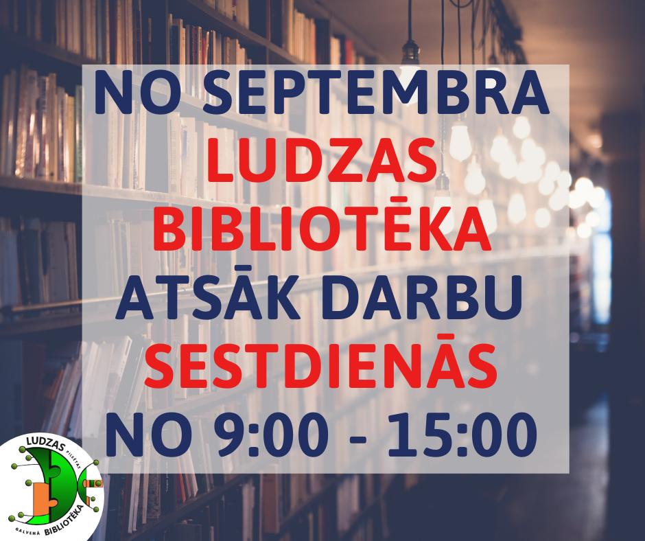 Bibliotēka atsāk darbu sestdienās