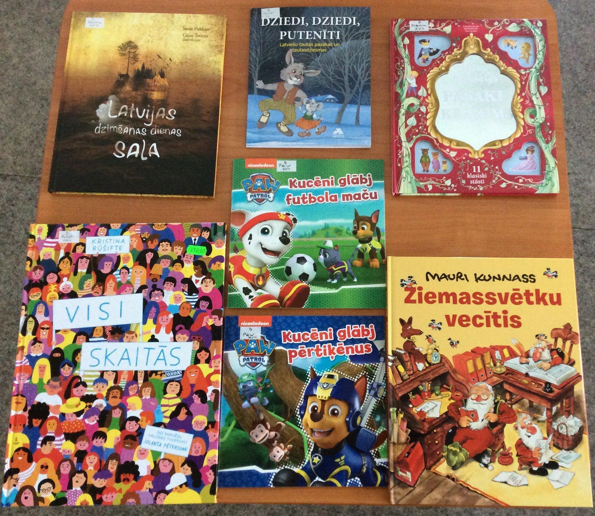Jaunās grāmatas bērnu nodaļā 2020.gada decembrī