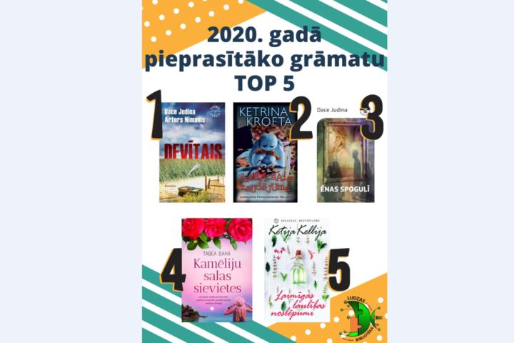 Самые читаемые издания в Лудзенской библиотеке в 2020 году!