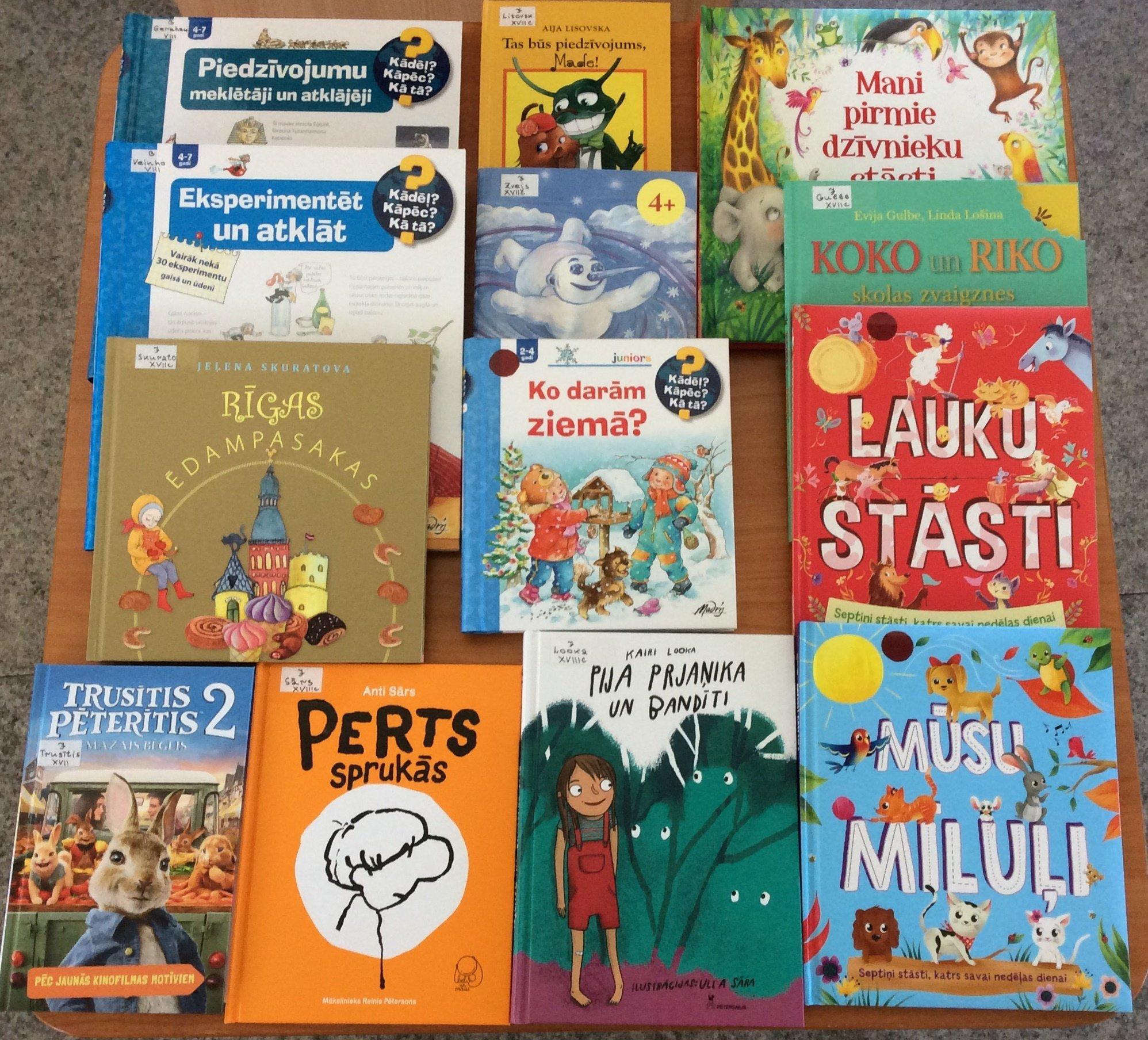 Jaunās grāmatas bērniem 2021.gada aprīlī